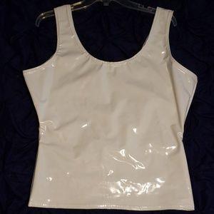 XL white PVC top, BNWOT